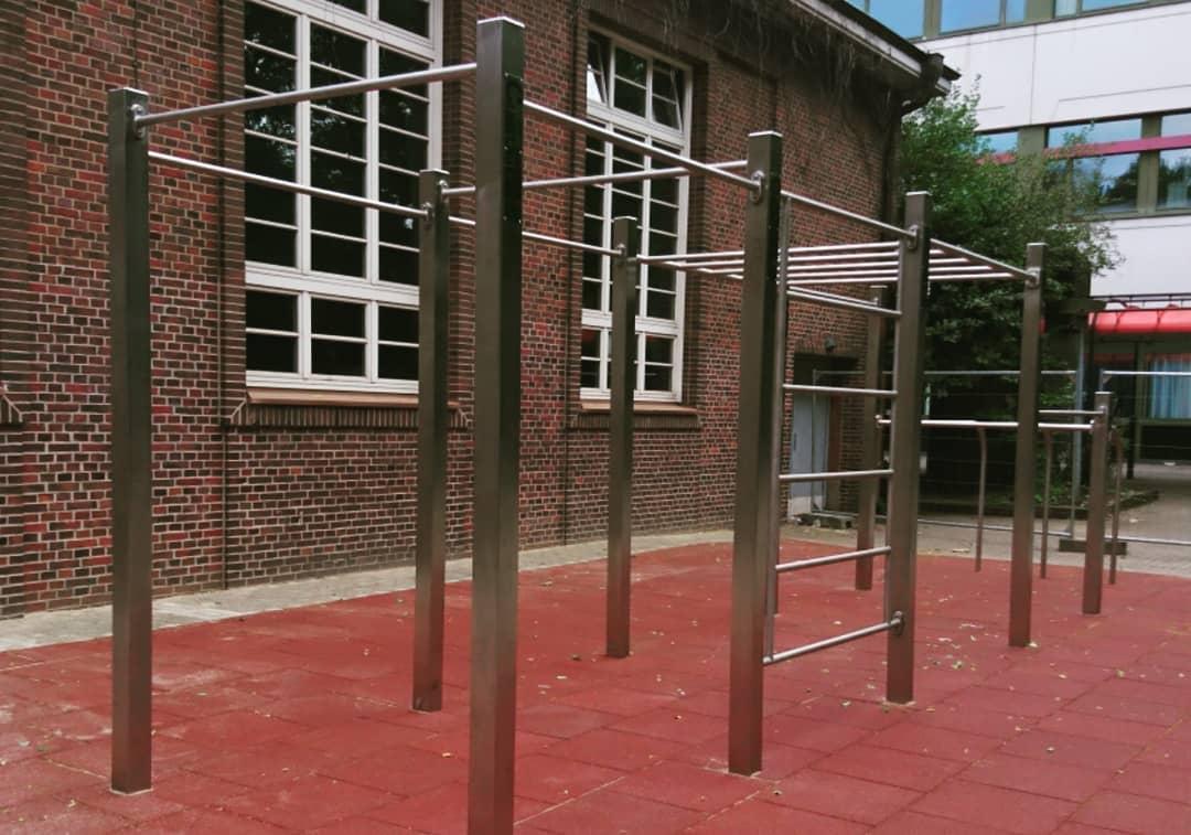 Edelstahl Calisthenics Park in Hamburg CB Competition Eliteschule des Sports