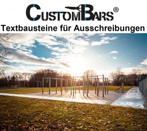 Ausschreibungstexte CustomBars