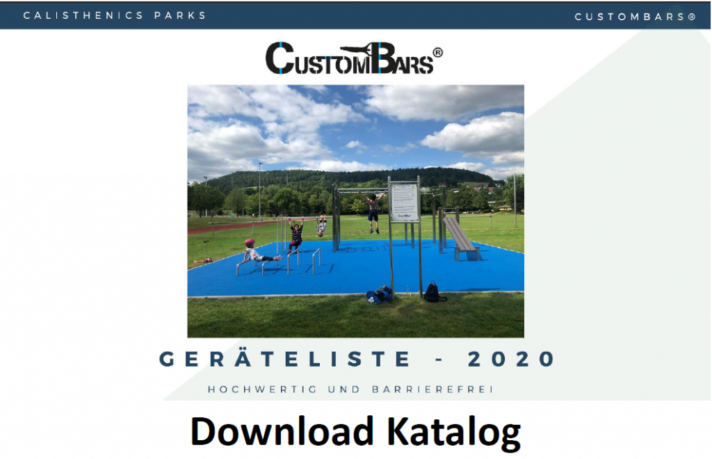 Calisthenics Park Katalog CustomBars