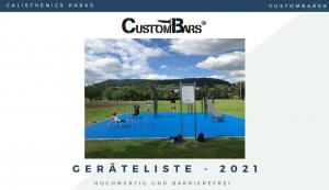 CustomBars Geräteliste